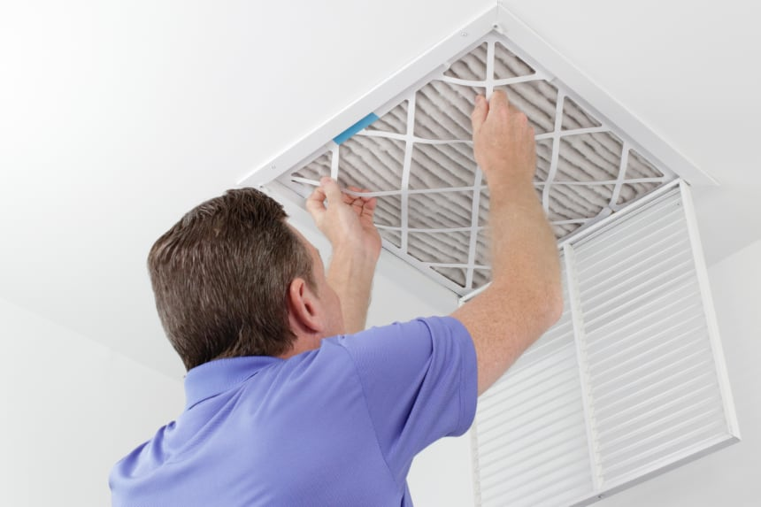 Air filter HVAC maintenance in Bloomington